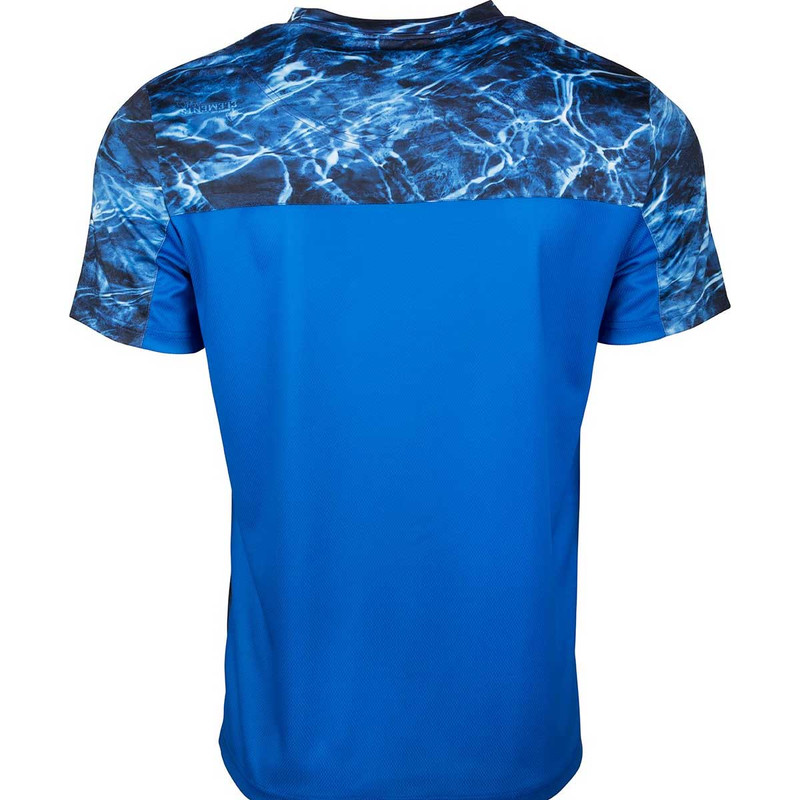 Drake Shield 4 Mesh Back Crew Neck Short Sleeve Shirt in Marlin Royal Color