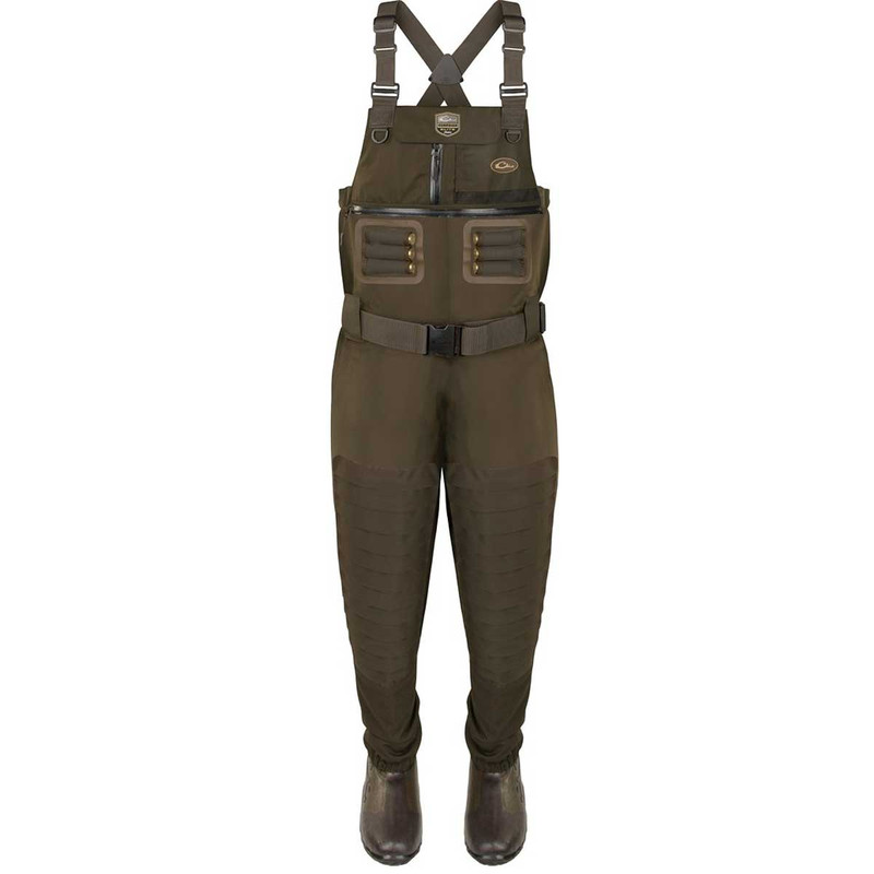 Drake Guardian Elite 6 Layer 4-In-1 Chest Wader with Tear Away Liner in Green Timber Color