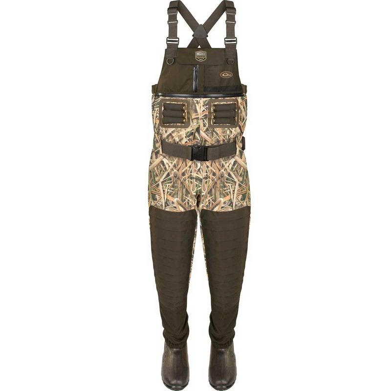 Drake Guardian Elite 6 Layer 4-In-1 Chest Wader with Tear Away Liner in Mossy Oak Shadow Grass Blades Color