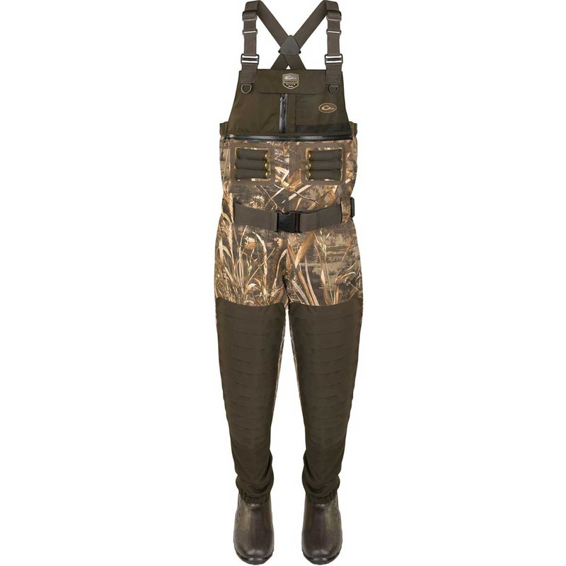 Drake Guardian Elite 6 Layer 4-In-1 Chest Wader with Tear Away Liner in Realtree Max 5 Color
