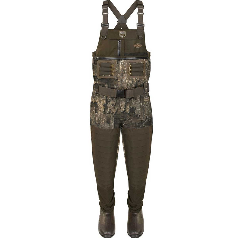 Drake Guardian Elite 6 Layer 4-In-1 Chest Wader with Tear Away Liner in Realtree Timber Color