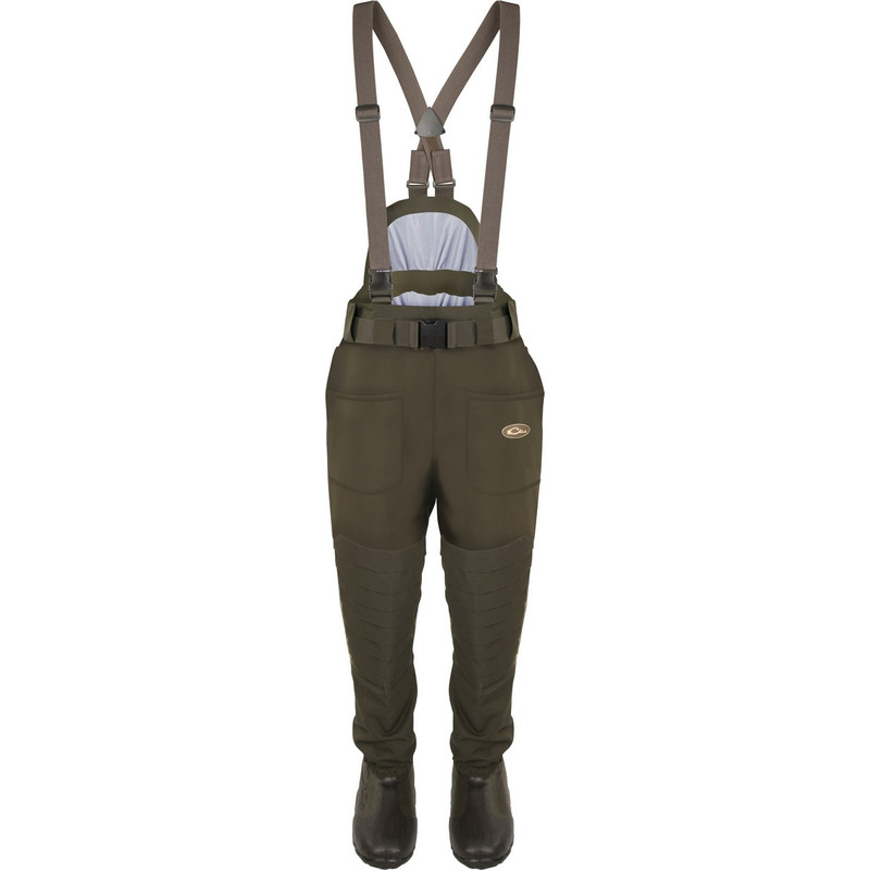 Drake Guardian Elite 6 Layer 4-In-1 Waist High Wader With Tear Away Insulated Liner in Green Timber Color