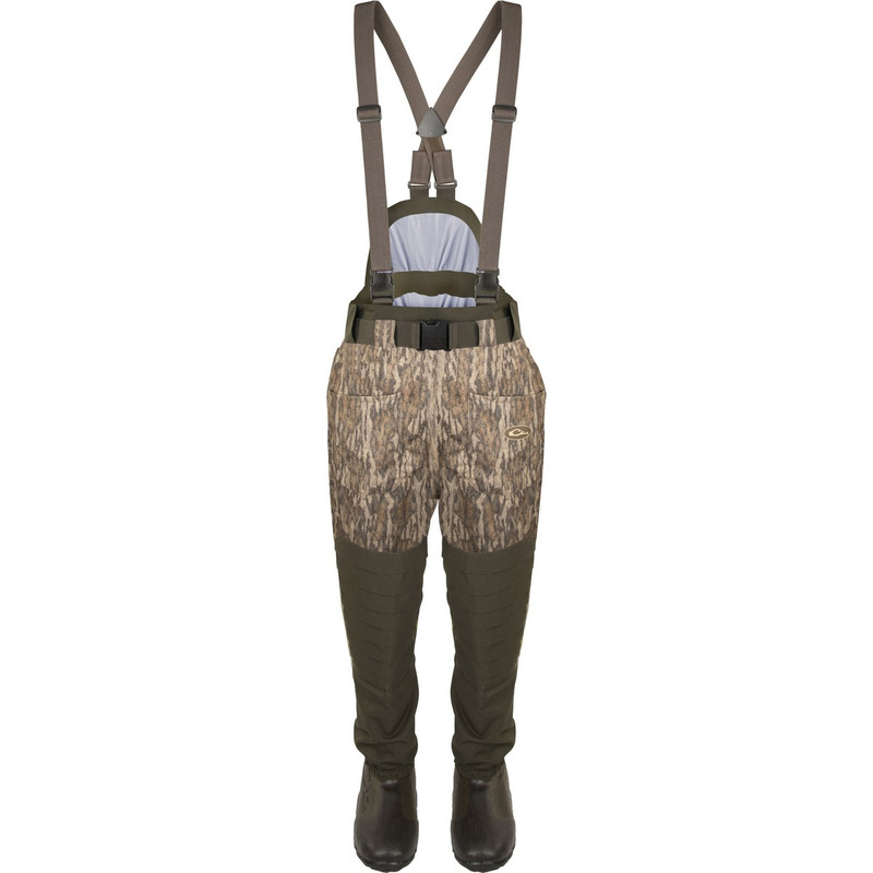 Drake Guardian Elite 6 Layer 4-In-1 Waist High Wader With Tear Away Insulated Liner in Mossy Oak Bottomland Color