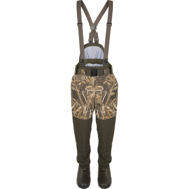 Drake Guardian Elite 6 Layer 4-In-1 Waist High Wader With Tear Away Insulated Liner in Realtree Max 5 Color