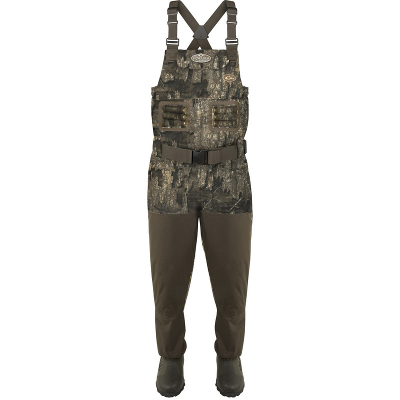 Drake Eqwader Breathable 1600G Wader With Tear-Away Liner in Realtree Timber Color