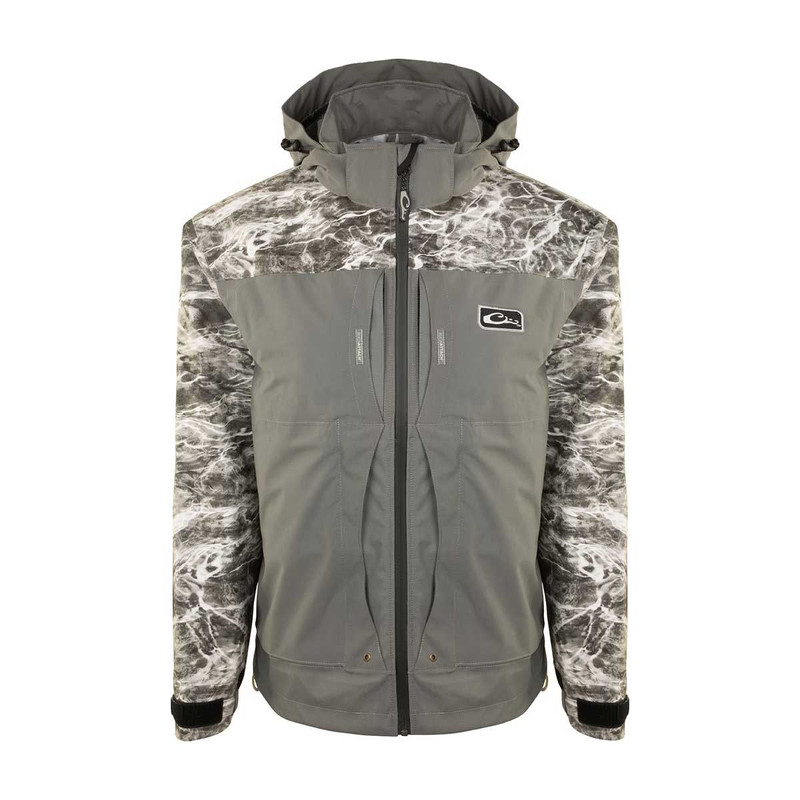 Drake Guardian Elite Angler Series 3-Layer Jacket - Shell Weight in Manta Gray Color