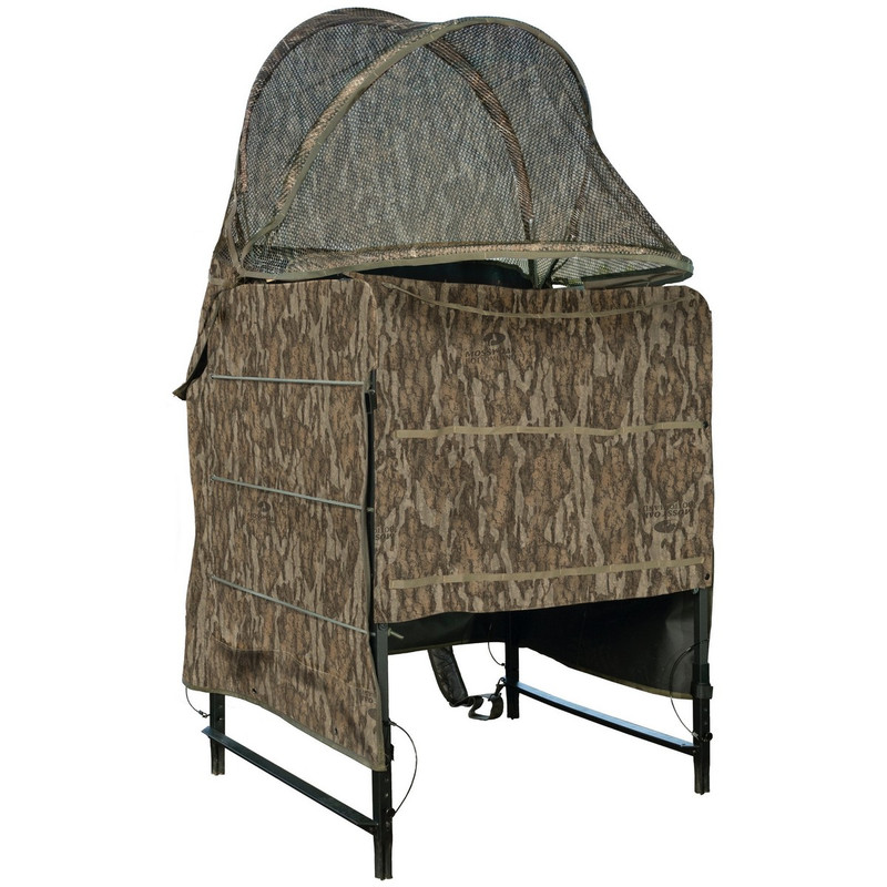 Drake Ghillie Shallow Water Chair Blind in Mossy Oak Bottomland Color