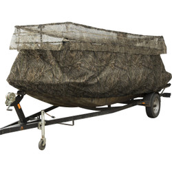 Drake Ghillie Boat Blind with No-Shadow Dual Action Top