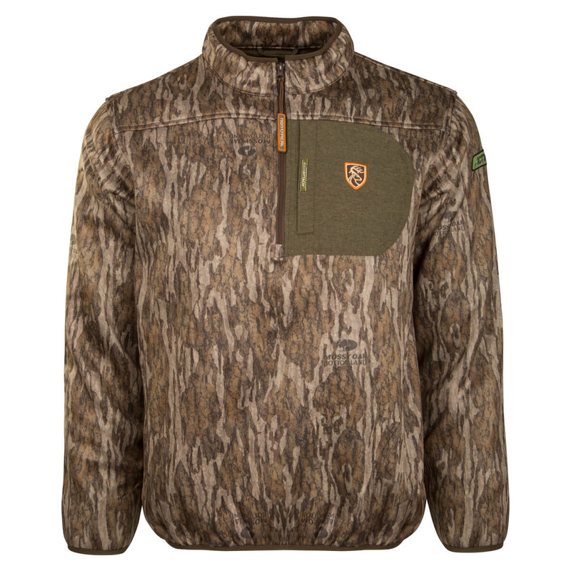Drake Scent Control Non-Typical Youth Endurance Pullover With Agion Active XL in Mossy Oak Bottomland Color