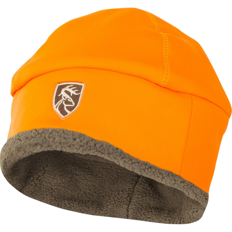 Drake Non-Typical Sherpa Silencer Beanie in Blaze Orange Color
