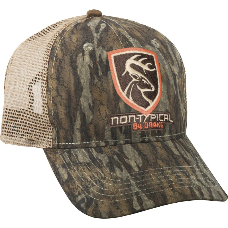 Drake Non-Typical Mesh Back Cap in Mossy Oak Bottomland Color