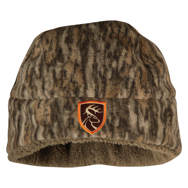 Drake Non-Typical Hydro-Hush Beanie in Mossy Oak Bottomland Color