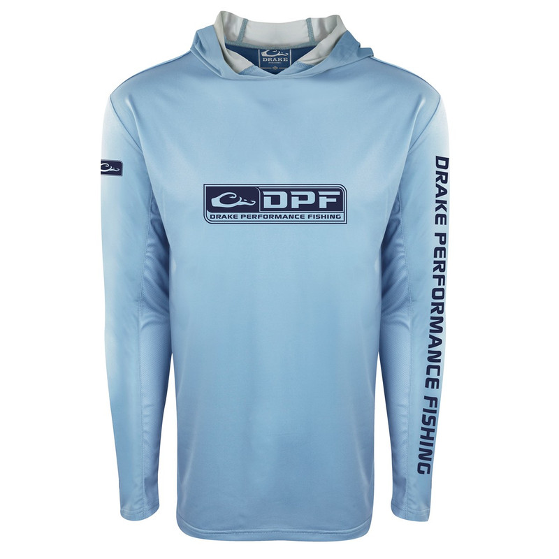 Drake Shield 4 Lightweight Performance Hoodie in Light Blue Color