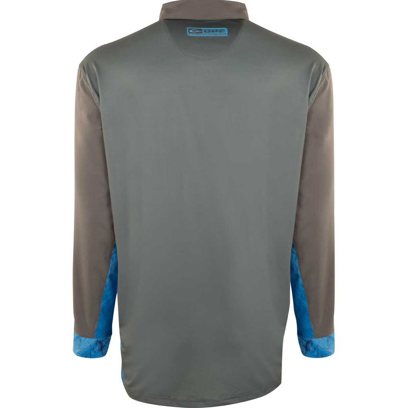 Drake Shield 4 DPF Cast-Away Performance Long Sleeve Shirt in Gray Realtree Dolphin Color