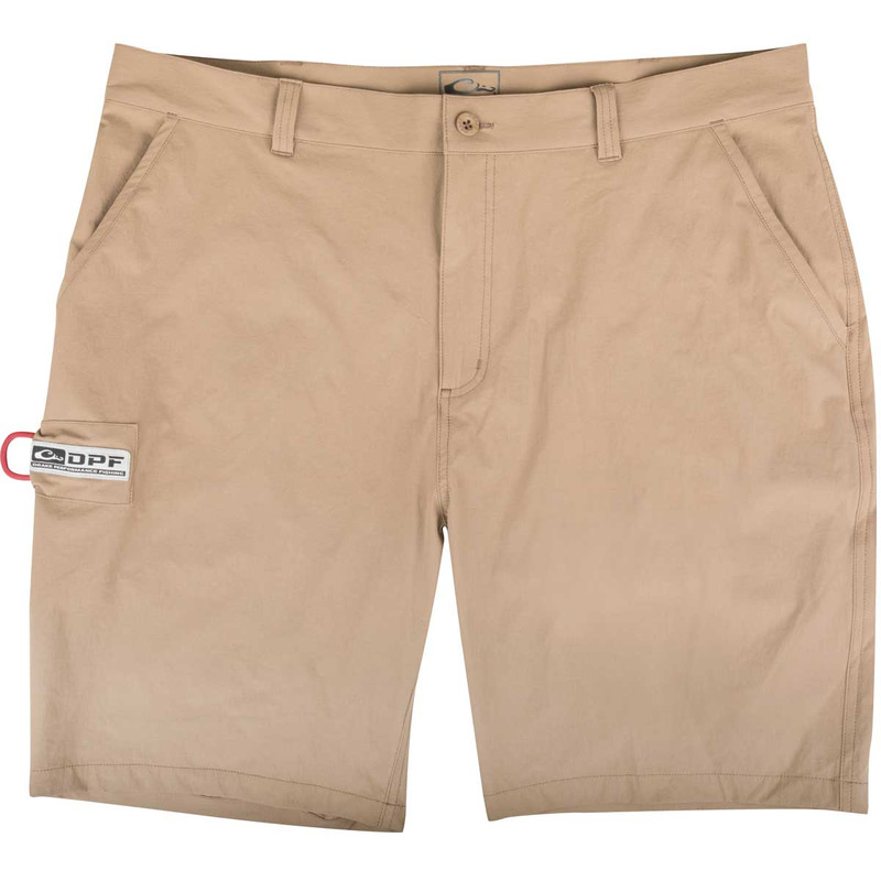 Drake Kill Switch Performance Stretch Shorts in Khaki Color