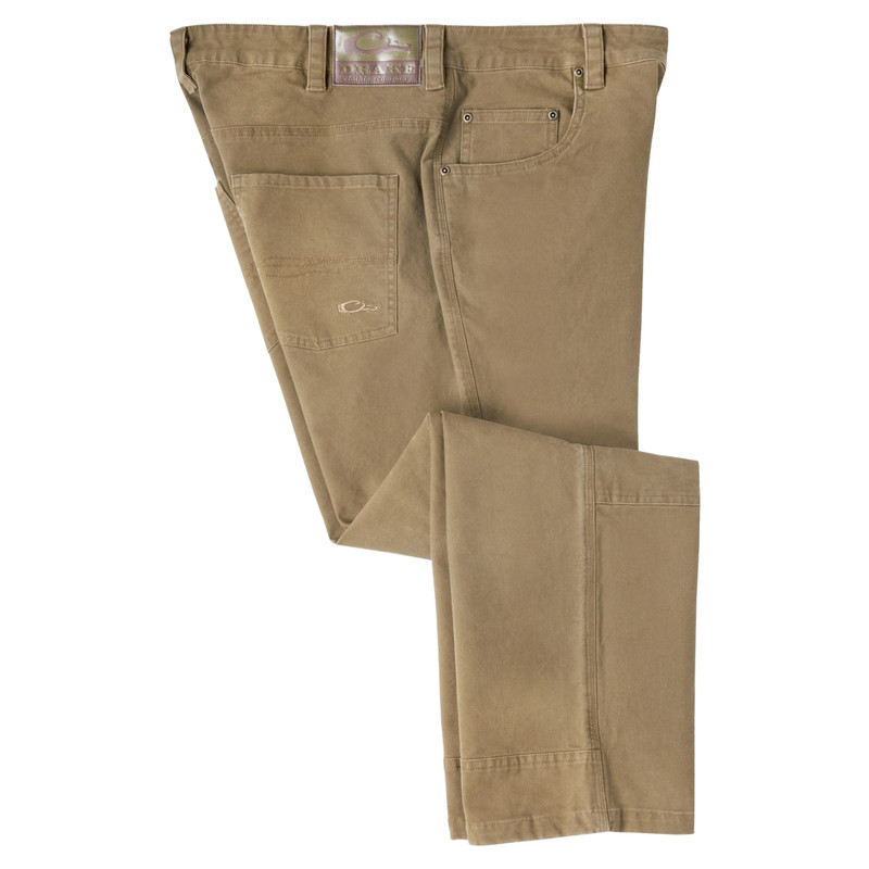 Drake Canvas Pants in Khaki Color