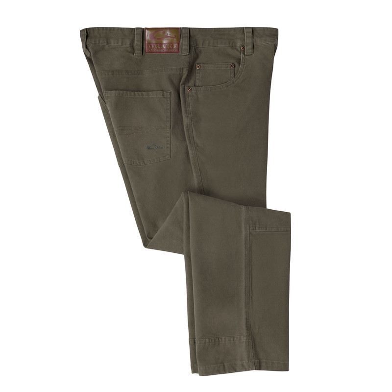 Drake Canvas Pants in Olive Color
