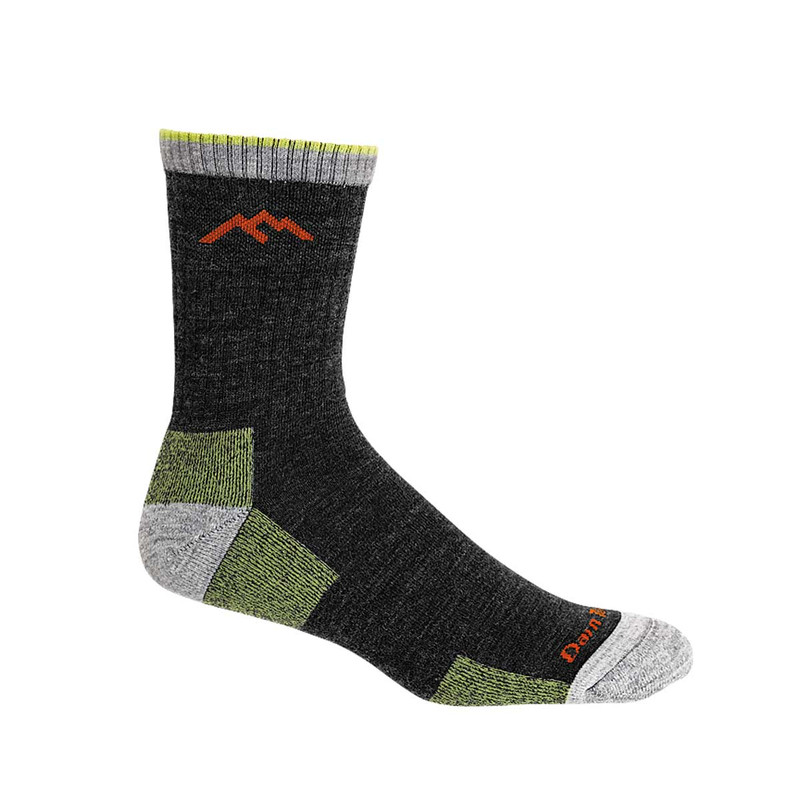 Darn Tough Hiker Micro Crew Cushion Socks in Lime Color