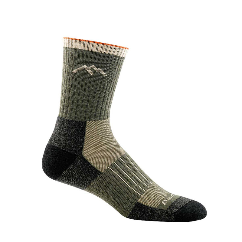 Darn Tough Hunter Micro Crew Cushion Socks in Forest Color