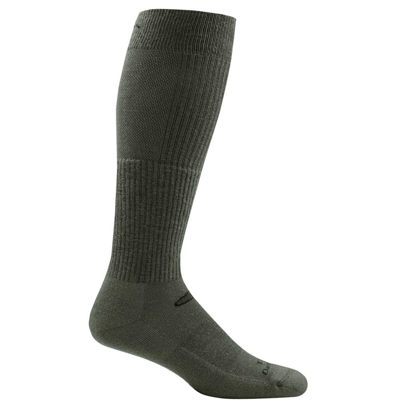 Darn Tough T3006 Tactical Over-the-Calf Light Cushion Socks in Foliage Green Color