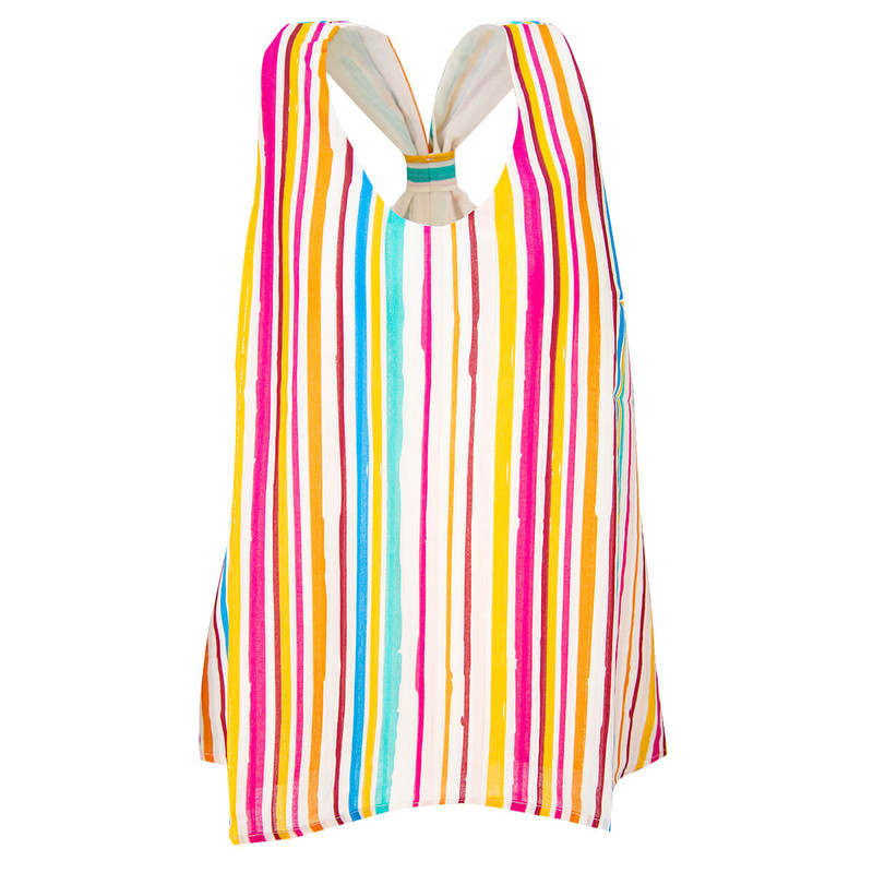 Entro Seeing Stripes Tank in White Combo Color