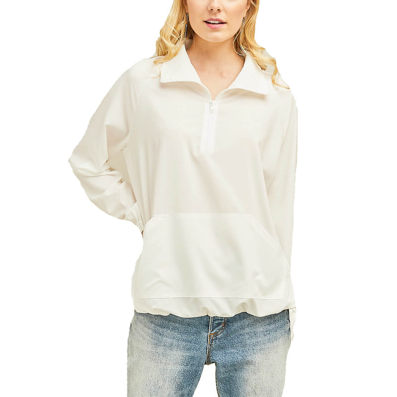 Ultra Thin Pullover Top in Off White Color