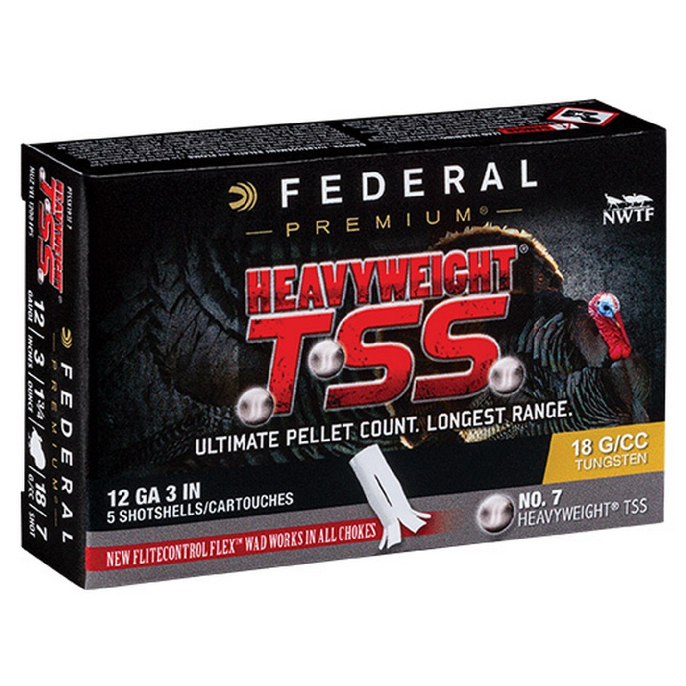 "Federal Heavyweight Turkey TSS 12 Ga 3 1/2"" 2-1/4 Oz - Box"