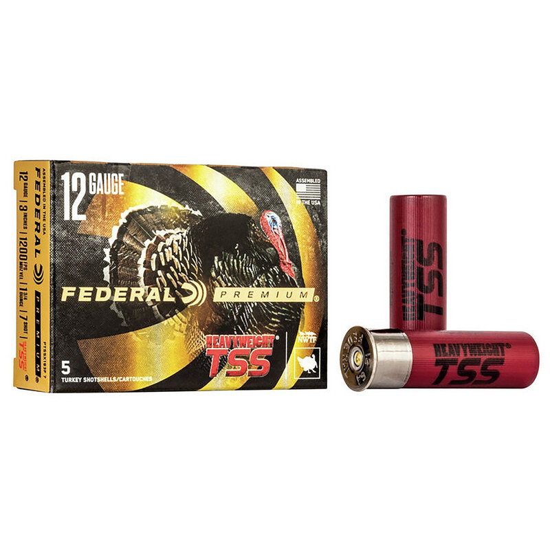 "Federal Heavyweight Turkey TSS 12 Ga 3"" 1-3/4 Oz - Box 5 Rd"