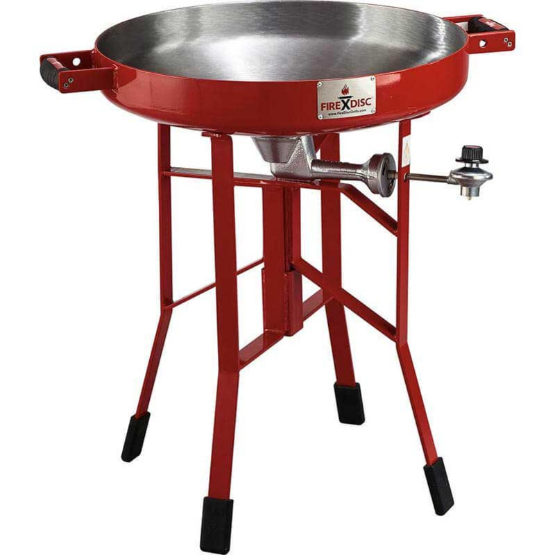 "FireDisc 24"" Short Portable Propane Cooker in Red Color"