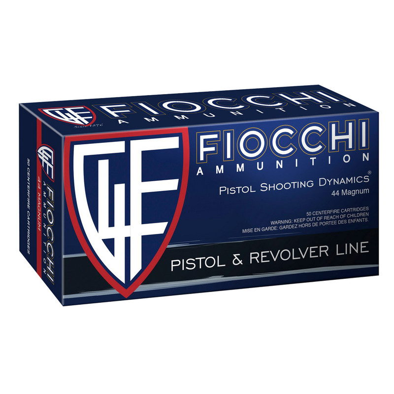 Fiocchi 44B500 44 Rem Mag 200 Gr Semi-Jacketed HP
