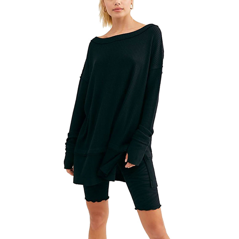 Free People North Shore Thermal in Black Color