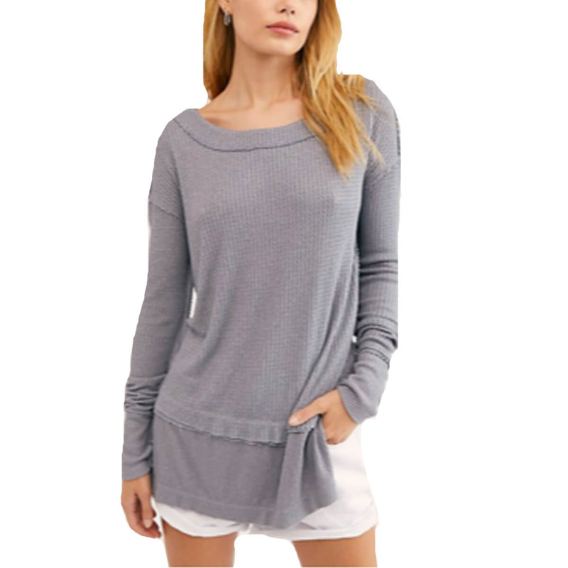 Free People North Shore Thermal in Grey Color