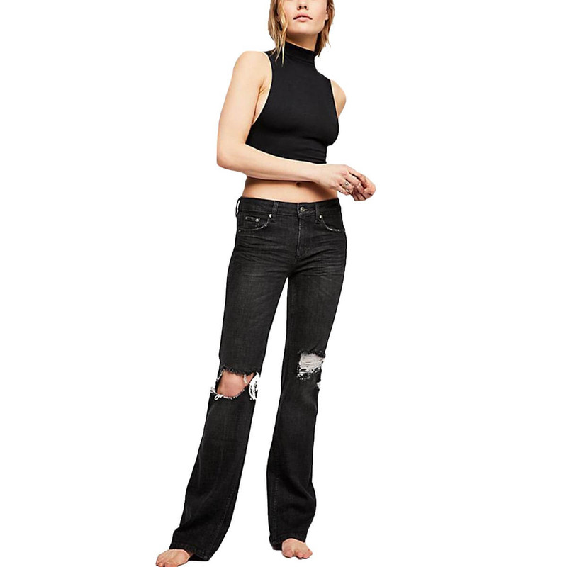 Free People Authentic Flare Jean in Black Color