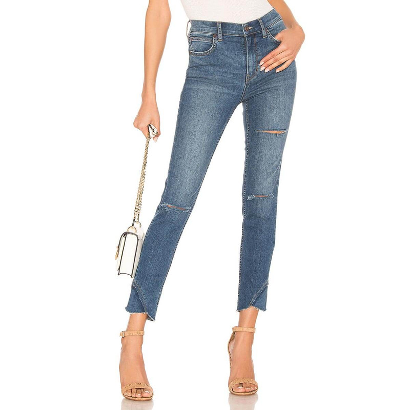 Free People Sunny Mid Rise Skinny in Blue Color