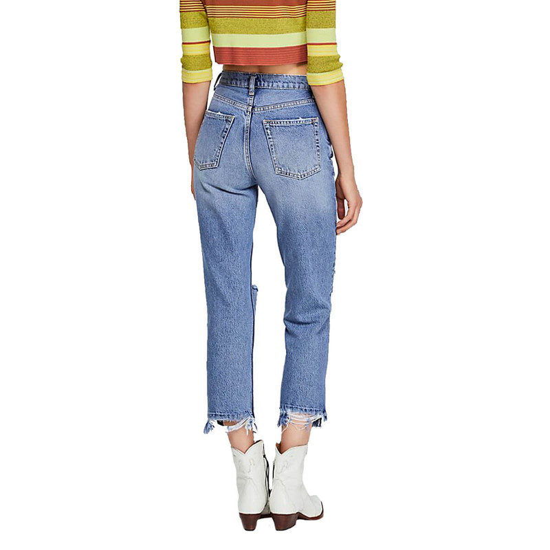 Free People Lita Slim Leg in Blue Color