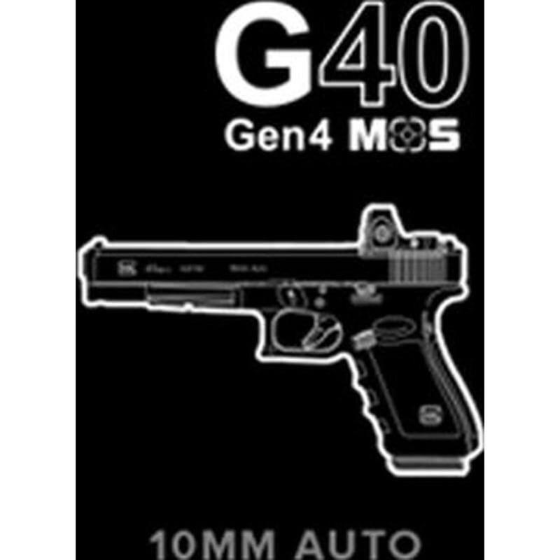 Glock PG4030103MOS G40 Gen4 10mm 15+1 Pistol - MOS Configuration