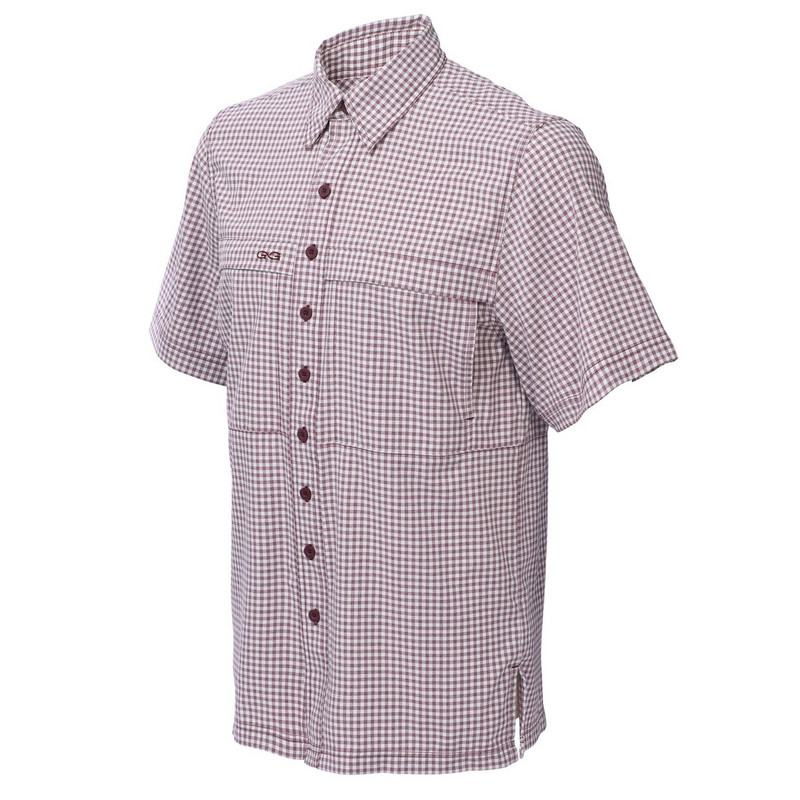 GameGuard TekCheck Short Sleeve Shirt in Maroon Color