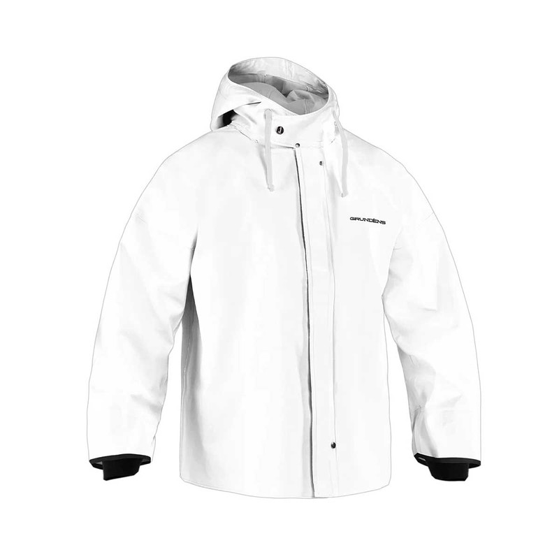 Grundens Brigg 44 Fishing Parka in White Color