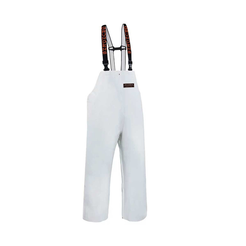 Grundens Herkules 16 Fishing Bibs in White Color