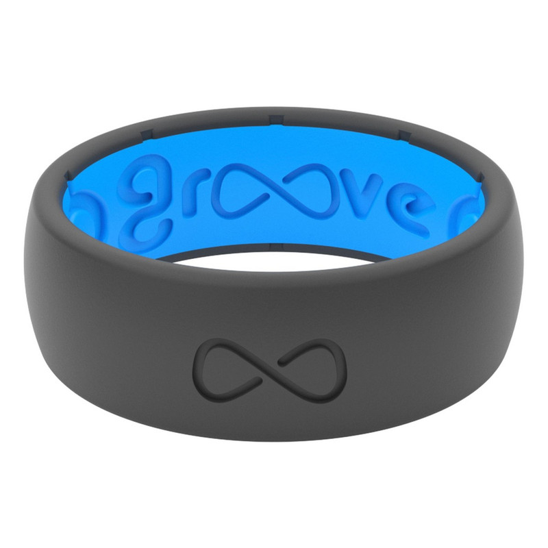 Groove Original Silicone Ring - Solid Color in Deep Stone Blue Color