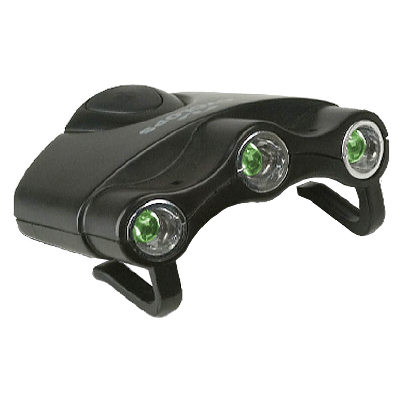 Cyclops Orion Hat Clip Light w/3 Green LED Lights