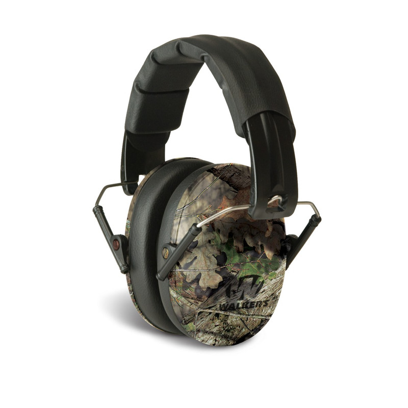 Walkers GWPFPM1CMO Pro Low Profile Folding Earmuff Mossy Oak Camo