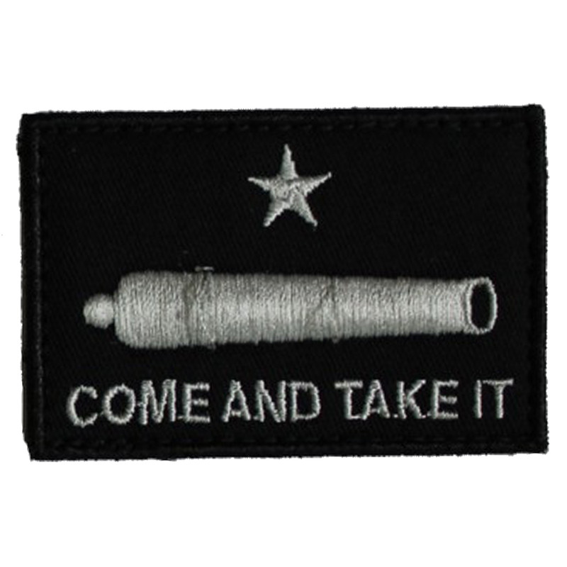 SME Velcro Patches in Come and Take It Flag Color