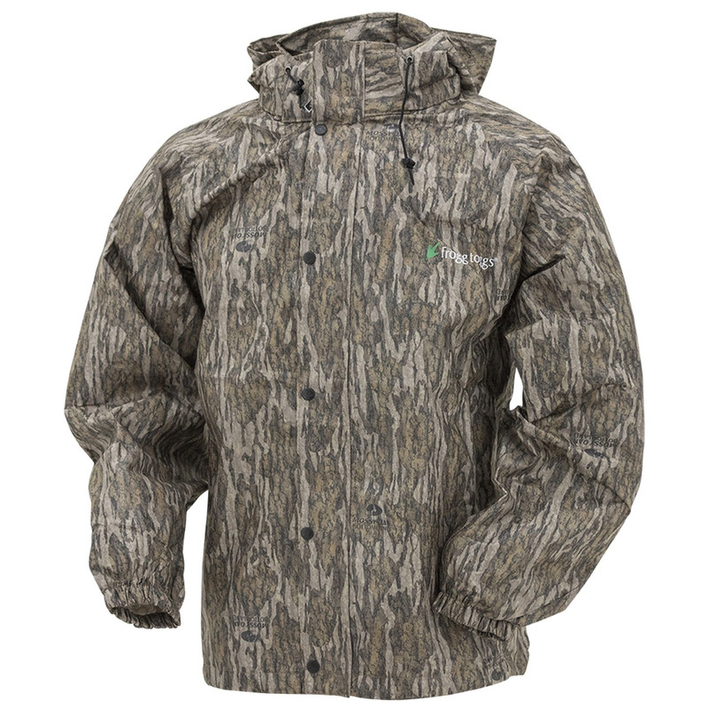 Frogg Toggs Pro Action Camo Rain Jacket in Mossy Oak Bottomland Color