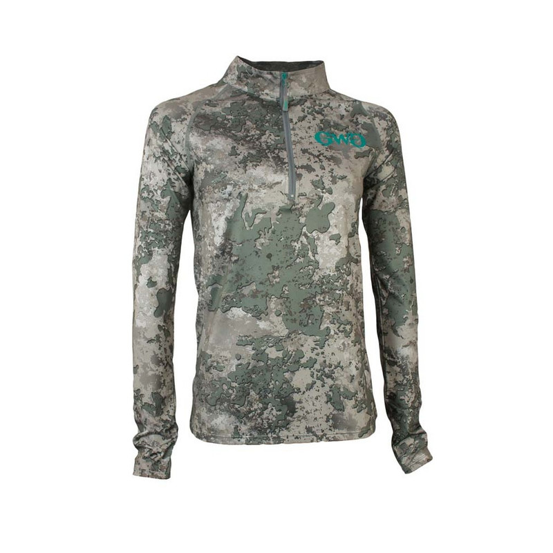 Girls With Guns Stalker 1/4 Zip Long Sleeve Top in Shade Color