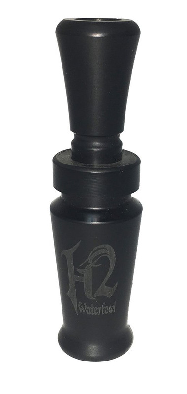 Haydel H2TDR Traditional Double Reed Duck Call in Flat Black
