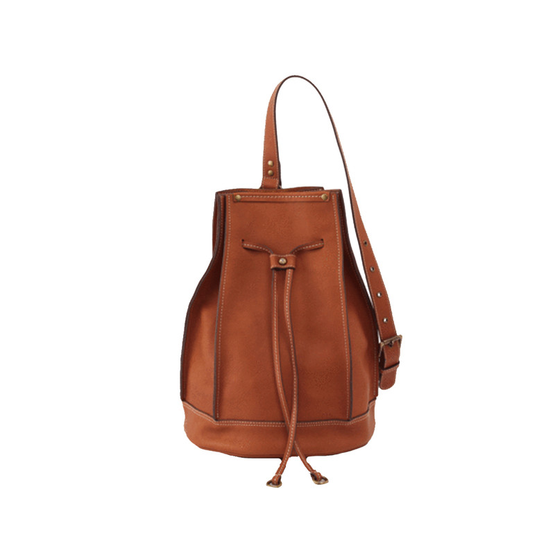 Hobo Coast Drawstring Backpack Purse in Saddle Color