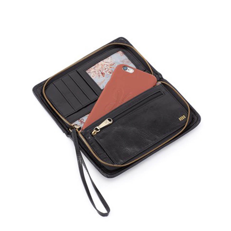 Hobo Danette Vintage Hide Wallet - Women's in Black Color