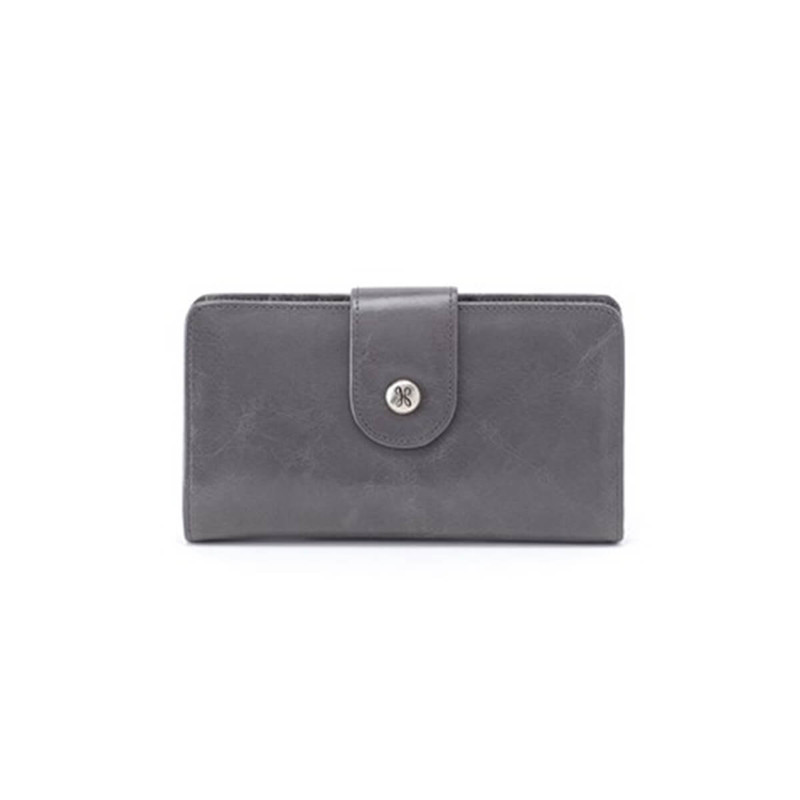 Hobo Danette Vintage Hide Wallet - Women's in Graphite Color