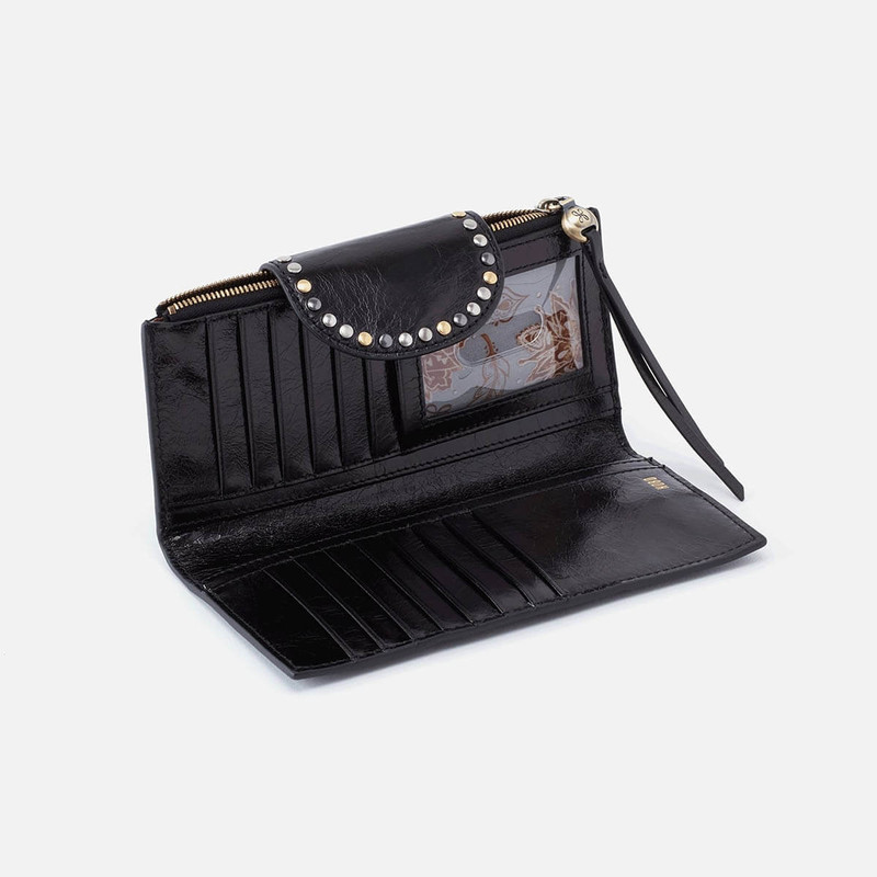 Hobo Elsa Continental Wallet in Black